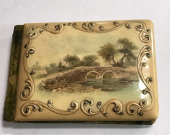 Antique (1899-1907) Autograph Book - Celluloid Cover - Handwriting, Poems