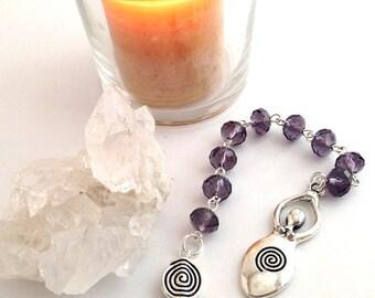 Smokey Purple Goddess Gratitude Beads // Goddess // Pagan // Wiccan