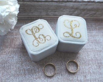 Personalised Ring Boxes,  Velvet Ring boxes, Wedding ring boxes, Proposal Ring Box