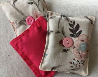 "3 lavender Potpourri sachet pods 3"" x 4, lingerie drawer fragrance, suit case, closet , the lavender scent repels moths to protect yarn"
