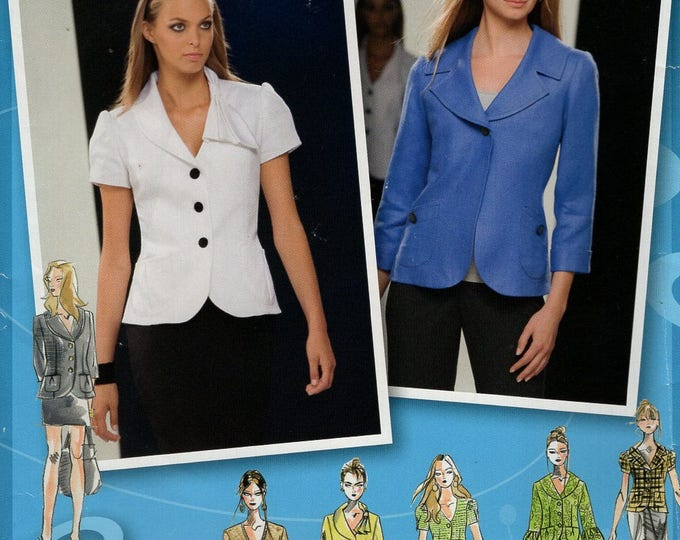 Simplicity 2728 Free Us Ship Sewing Pattern Project Runway Jacket Collar Variations Sleeve Size 14 16 18 20 22 Bust 36 38 40 42 44 New