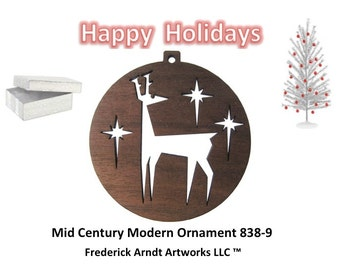 838-9 Mid Century Modern Christmas Ornament