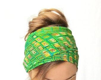green head scarf summer boho head wrap bohemian skinny scarf tie up head band hair accessory beach headwrap