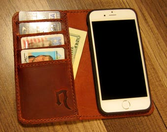 Leather iPhone 7 and 8 Wallet