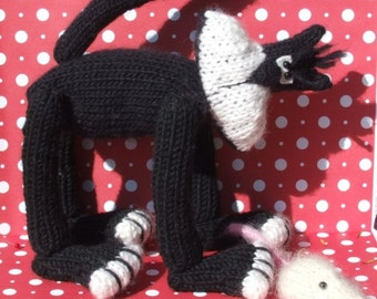 Knitted Cat Pattern  BUY 2 Patterns, GET 1 FREE