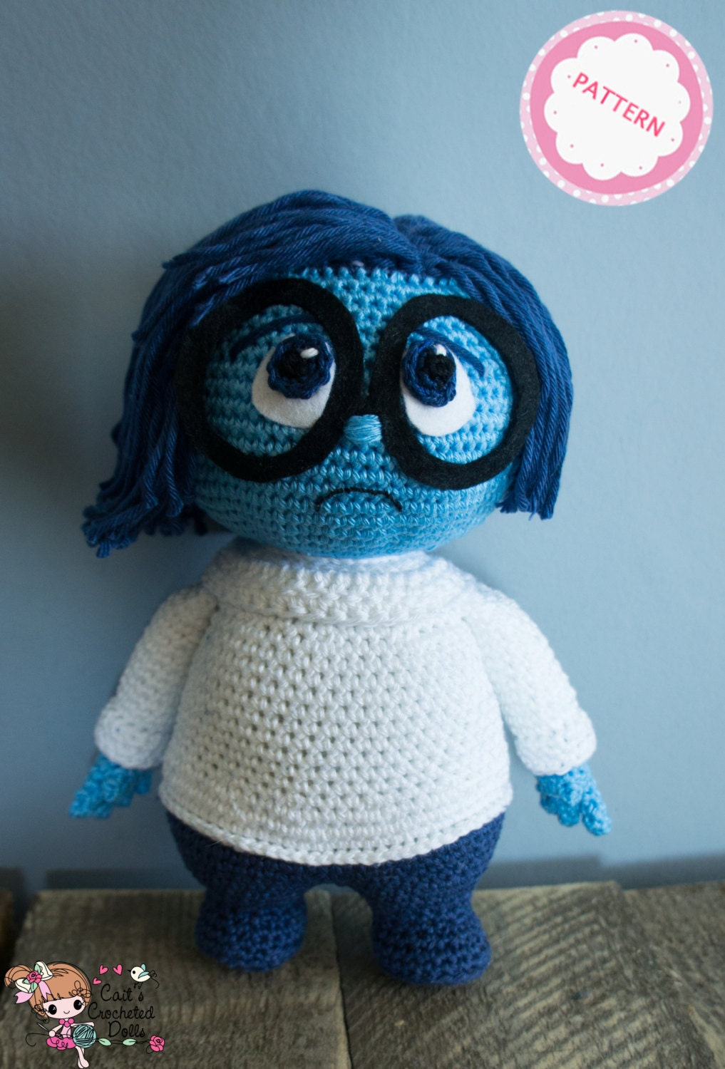 PATTERN crocheted Disney Inside Out Sadness