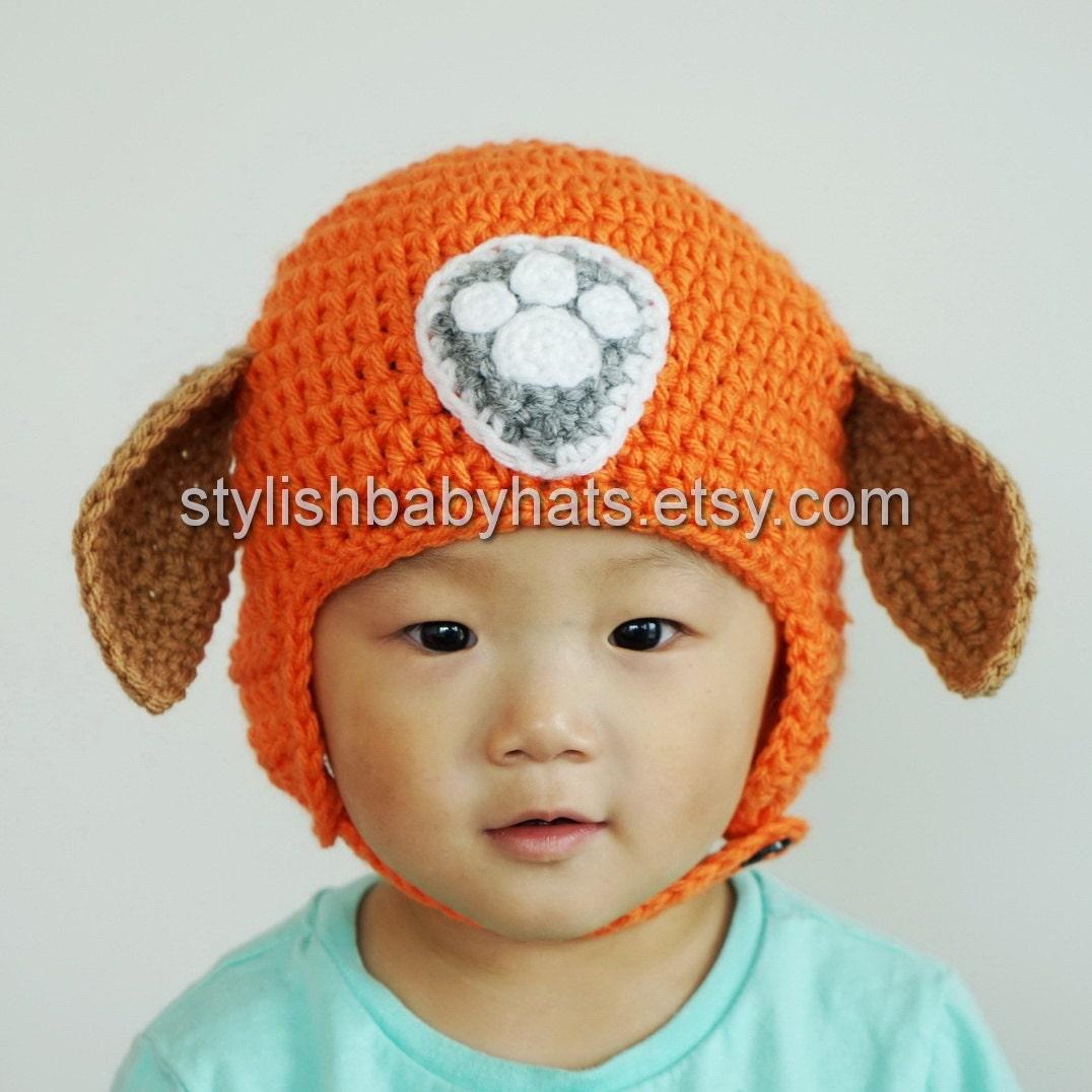 Zuma Hat PAW Patrol Hat Crochet Baby Hat Chocolate Labrador