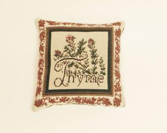 Decorative Thyme Pillow, Throw Pillows, Primitive Decor, Accent Pillows, Country Farmhouse Decor