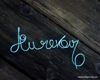 French Decor Au revoir Sign In Wire For Wall