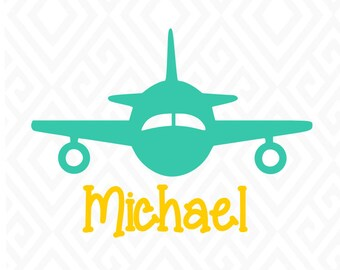 Cute Airplane; SVG, DXF, AI. Eps, Png and Pdf Cutting Files for Electronic Cutting Machines