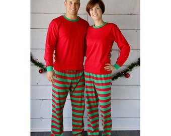 Christmas pajamas children pajamas family pajamas appliqued