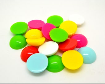10 multicolored resin cabochons