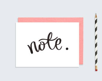 Printable Note Card | A5 A6 Postcard | Hand Lettered Post Card