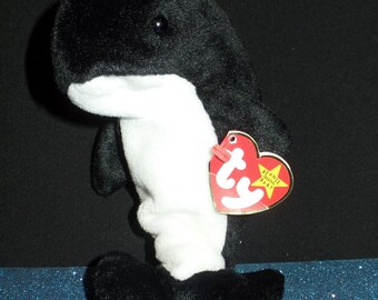 Waves the Orca Whale Beanie Baby Original