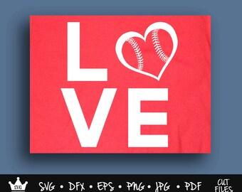 Baseball Love SVG, Baseball SVG, Baseball Mom SVG, Baseball Heart svg, Baseball Love, Softball svg, Baseball svg Files, Baseball Shirt Mom