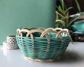 "Hand woven basket titled ""weaver land"" Authentic Native America Art double wall basket handmade basket"