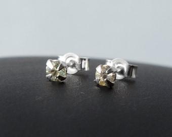 Aquamarine Earrings, Genuine Aquamarine Earrings, Aquamarine Studs, Sterling Silver Earrings, March Birthstone Earrings, March Birthday Gift