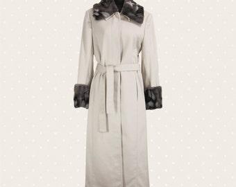 1980s Vintage ice-white coat