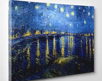 """Vincent van Gogh, """"Starry Night Over the Rhone"""", 16"""" x 24"""" Canvas Gallery Wrap Print"""