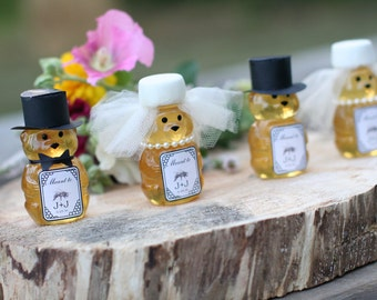 Honey Bear Wedding Favors, Rustic Wedding Favors, Honey Bridal Shower Favors, Honey Wedding Shower Favors, Custom Wedding Favor with Tags