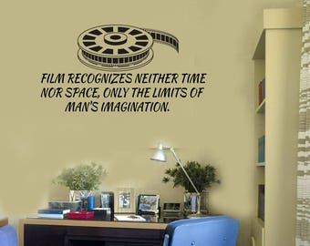 Film Quote Vinyl Wall Decal Cinema Movie Lover Filmstrip Stickers Mural (#2688di)