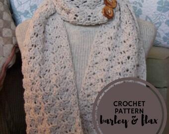 Crochet Scarf PATTERN PDF Kenley Convertible Cowl Button Infinity Scarf Beginner's Pattern Crochet Instructions Instant Download