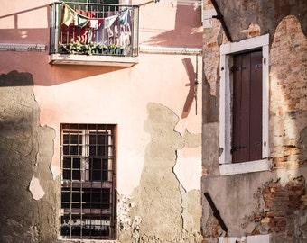Italienische Reisefotografie Druck - venezianischen Balkon Foto - Venedig