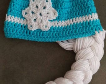Elsa hat, Frozen, Ice Queen, braided beanie