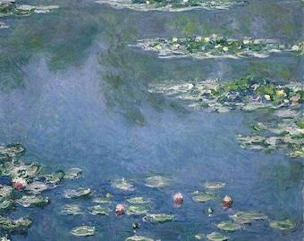 Monet Water Lilies, Water Lilies Monet, Monet Lilies, Monet Water Lilies Print, Monet Water, Monet Print, Water Lilies Monet Print, Monet