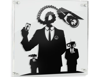 Hello - original silhouette hand cut paper craft // handmade framed wall artwork FRAMED