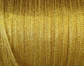 ❤ 1 meter Ribbon satin 4mm gold ❤