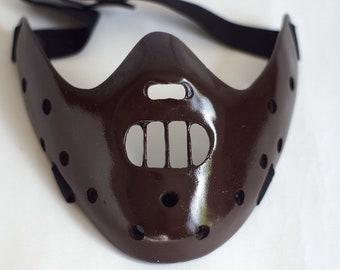 Hannibal Lecter Mask The Silence of the Lambs mask Brown Halloween mask Creepy mask