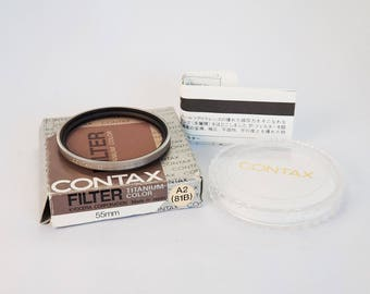 Contax 81b 55mm Filter, Titanium Color Rim