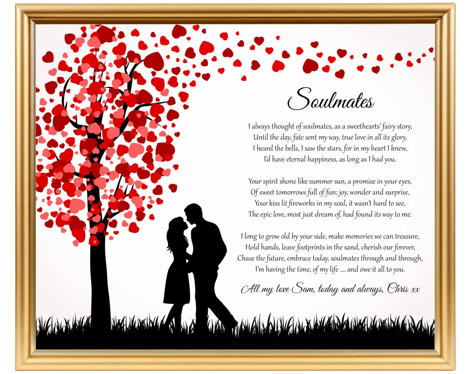 Gifts For Husband 25th Wedding Anniversary: Soulmates Wedding Anniversary Poetry Gifts For Anniversary For