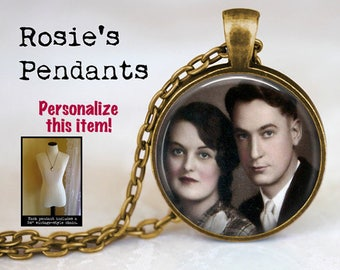 PHOTO NECKLACE Jewelry - Your Own Photo as a Personalized Customized Pendant Necklace - Picture Necklace - Ancestor Necklace