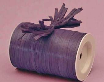 Plum Matte Raffia Ribbon - 10 Yards - Many Colors Available