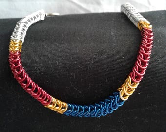 Box Chain Mail Bracelet inspired by Acadiana