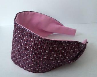 Pink Fabric Headband, Plastic Headband, Girls Headband, Womens Headband, Kids Headband, Fashion Headband, Cotton Headband, Teen Headband