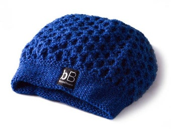Loose beanie / Blue beanie /Spring beanie /Elegant beanie /Soft beanie /Crochet hat /Crochet beanie /Winter hat /Winter beanie /Gift for her