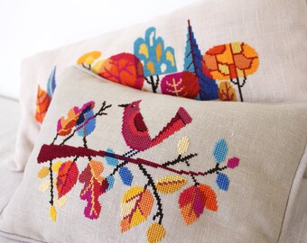 Autumn Color Package - Two modern cross stitch patterns - Satsuma Street - Instant Download Cross Stitch Pattern PDF