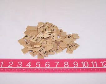 Lot 100 Scrabble Board Game Wooden Tiles Racks Holders Crafts Replacement Parts Pieces