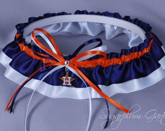 Houston Astros Wedding Garter