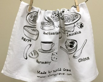 Global Eats: Breakfast Dishes Around the World Kitchen Towel