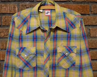 Vintage 70s Chute #1 Western Shirt Men's L