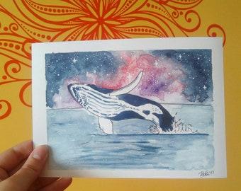 Jumping Whale // Galaxy Ocean