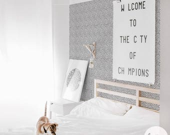 Tiny Speckle Removable Wallpaper in black / Traditional or Self Adhesive Wallpaper
