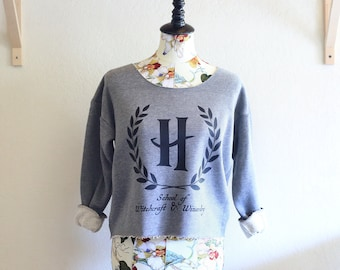 Hogwarts School of Witchcraft & Wizardry Athletic Crop Sweatshirt - Inspired by Harry Potter - Made in USA by So Effing Cute
