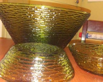 Anchor Hocking Soreno  Avocado Green Large Salad/Fruit Bowl with Cereal/Salad Bowls