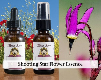 Shooting Star Flower Essence, 1 oz Dropper or Spray for Healing Alienation from Humanity, Learning to Love