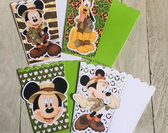 Mickey Mouse Minnie Mouse Pluto Safari | Popcorn Boxes, Treat Boxes, Favor Boxes, Goody Boxes, Snack Boxes, 12 Boxes